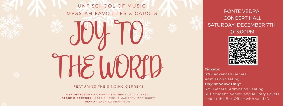 Joy to the World: Messiah Favorites and Holiday Carols